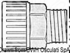 "Osculati Hydrofix system brass joint 3/4"" female/male 22 mm"