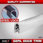 "EPDM Rubber Seal Strip Trim White U Channel Door Edge Anti-rub Soundproof 180"""