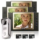 "Wired 8"" LCD Recording Video Door Bell Phone Home Intercom 3x Indoor Monitor"