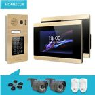 """HOMSECUR 7"""" Video Door Entry Phone Call System Aluminium Alloy Camera Wide Angle"""