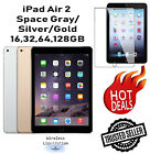 Apple iPad Air 2nd Gen SpaceGray/Silver/Gold 16GB 32GB 64GB 128GB WiFI Tablet