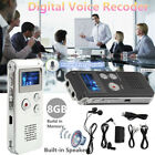 8GB Digital Voice Recorder Audio Sound Recording Pen HD Noise Reduce MP3 Player