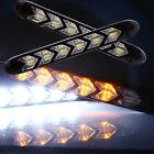 2pcs Flexible White/Amber Daytime Running Light DRL Waterproof Head Lamp 6SMD 6W