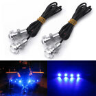4x Blue LED Boat Light Silver Personal Waterproof Transom Underwater JetSki