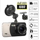 "4"" Dual Lens Camera HD Car DVR Dash Cam Video Recorder G-Sensor w/ Night Vision"