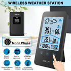 【Moon Phase】LCD Wireless Weather Station Temperature Humidity Outdoor Sensor -US