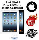 Apple iPad Mini 2nd Gen Black/White 16GB 32GB 64GB 128GB Wi-Fi --1 Year Warranty