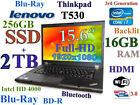 FHD Thinkpad T530 i7-2.9GHz (Blu-Ray 256GB SSD+2TB 16GB)15.6 Backlit