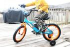 Bicycle for Kids Blue 16 Inch Little Boys Training Wheel Cycle Bike
