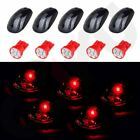 5x Smoke Cab Roof Marker Running Light w/T10 194 Red LED For 03-16 Dodge Ram