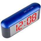 Digital LED Table Desk Alarm Clock Make-up Mirror Thermometer Hygrometer Decor