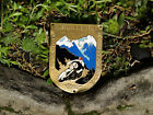 VINTAGE ENAMEL AUTOMOBILE CAR MOTORCYCLE / BADGE # RALLY GARMISCH PARTENKIRCHEN