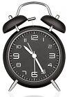 Peakeep 4 Twin Bell Analog Alarm Clock, Battery Operated, Loud (Black)
