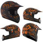 MX Helmet CKX TX-218 Pursuit Orange Black Small Youth Motocross Offroad ATV DOT