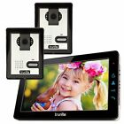 """9"""" inch Wired Video Door Phone Intercom 2 Cameras Access Control Entry System"""