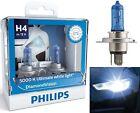 Philips Diamond White 5000K 9003 HB2 H4 60/55W Two Bulbs Head Light Snowmobile
