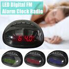 220V Digital Bedside Alarm Clock LED Dual AM FM Radio Snooze Sleep Timer Charger