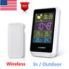 Digital Wireless Color LCD Weather Station Forecast Temperature Humidity Snooze