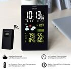 LCD Wireless Weather Station Outdoor Temperature Forecast Humidity Meter Snooze