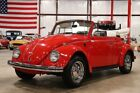 Beetle-New Convertible 1969 Volkswagen Beetle Convertible 16600 Miles Poppy Red Convertible 1600cc H4 M