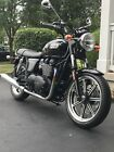 2015 Triumph Bonneville  70's style, Phantom Black, Blacked out engine, Mags, Only 300 Miles