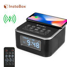 InstaBox W33 Clock Radio FM Bluetooth Speakers Wireless Charging Pad for iPhoneX