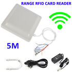5M UHF RFID Long Range Card Reader Wiegand 8dbi Parking System Access Control US