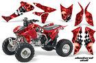 ATV Graphics Kit Quad Decal Sticker Wrap For Honda TRX450R TRX450ER CHECKER RED