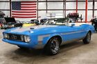 1973 Mustang -- 1973 Ford Mustang  94629 Miles Blue Convertible 351 Cleveland V8 Automatic