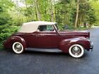 1940 Ford Deluxe Deluxe 1940 Ford convertible, Ford maroon with tan canvas top
