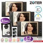 "ZOTER 8"" Monitor Recording Video Phone Intercom 1 2 3 Units Access Control Kit"
