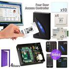RFID Access Control TCP/IP Password Quadra Door Board Exit Button Power Kit Set
