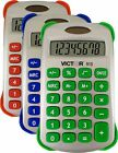 Victor 910 8 Digit Handheld Calculator with Cover in Three Bright Colors: Blu...