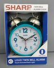 Alarm Clock Vintage Twinbell Quartz Analog Battery Operated Alarm Teal