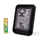 Digital Hygrometer and Thermometer, Black