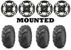 Kit 4 Maxxis Zilla Tires 27x10-14 on Sedona Riot Machined Wheels WCT