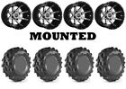 Kit 4 High Lifter Outlaw MST Tires 25x9-12/25x11-12 on Sedona Storm Machined 550