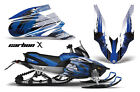 Snowmobile Graphics Kit Decal Sticker Wrap For Yamaha Apex 2006-2010 CARBONX BLU