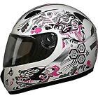 Pink Dragon HCI PC-77G full Face helmet w/ Double visor M