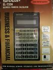 Sharp EL-733A Business Financial Calculator With Manual Vintage