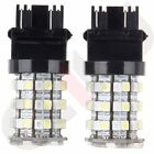 2X 3157 60SMD TURN SIGNAL LED SWITCHBACK WHITE AMBER LIGHT BULBS 4057 DUAL COLOR