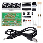 WHDTS 4 Bits Digital Clock Kits with PCB for Soldering Practice Learning with