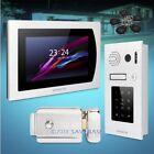 "HOMSECUR 7"" Wired Video Door Phone Intercom System Electric Lock+Keys Included"
