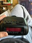 Sunbeam Hospitality AM FM Alarm Black Clock Radio Model #89014 New In Box. B45