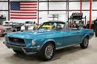 1968 Mustang -- 1968 Ford Mustang  88390 Miles Gulf Stream Aqua Convertible 6-Cylinder Manual