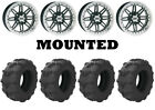 Kit 4 Arisun Tuff Mudder Tires 25x10-12 on ITP SS216 Machined Wheels ACT
