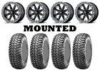 Kit 4 Maxxis Liberty Tires 32x10-14 on MSA M31 Lok2 Beadlock Black Wheels FXT