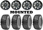 Kit 4 Maxxis Rampage Tires 32x10-14 on MSA M26 Vibe Black Wheels CAN