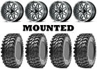 Kit 4 Maxxis Rampage Tires 32x10-14 on MSA M26 Vibe Machined Wheels TER