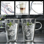 F445 Double Glass Tea Cup Creative Transparent Bar Glass Cup